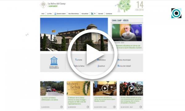 La web de l'Ajuntament de la Selva es converteix en un portal de serveis del poble