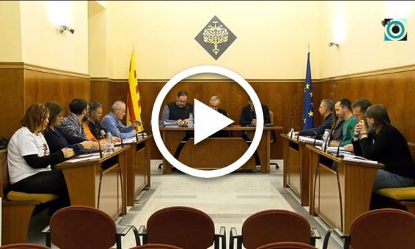 El ple aprova la modificació de l'IBI, l'increment dels sous del personal municipal i la creació d'un protocol pel seguici festiu