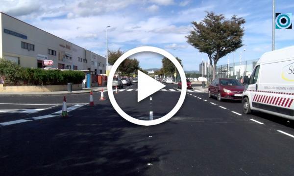 Les obres del carrer de l'Energia posen el punt final amb el pintat de la senyalització